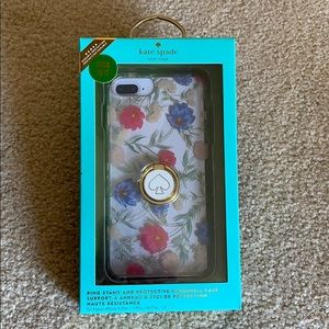 Kate Spade Case w/ Ring Stand for iPhone 8+; XS/X